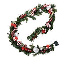 Winter Lane 9' Lit Ornament Garland