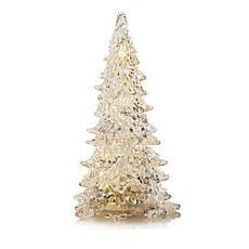 Winter Lane Battery-Operated Musical Acrylic Tree with Timer