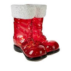 Winter Lane Illuminated Santa Boots