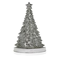 Winter Lane Mercury Glass Lighted Tree with Timer