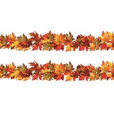 Winter Lane Set of 2 Maple Leaf Garlands - 6'