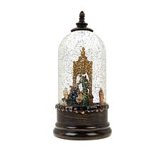 Winter Lane Snow Globe with Rotating Figure