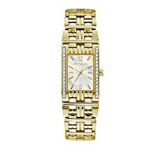 Wittnauer .15ctw Diamond Goldtone White Rectangular Dial Watch