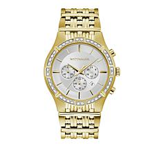 Wittnauer Men's .12ctw Diamond Goldtone Chronograph Watch