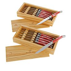 Wolfgang Puck 12-piece Steak Knife Set with Wooden Gift Boxes