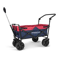Wonderfold Wagon Beach Tire Push and Pull Folding Wagon