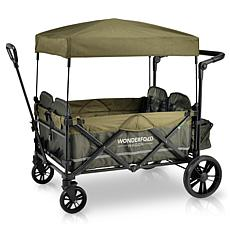 Wonderfold Wagon Pull/Push Quad Wagon 4-Seat w Magnetic Seatbelt