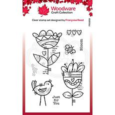 """Woodware Clear Singles 4"""" x 6"""" Stamp - Blooming"""