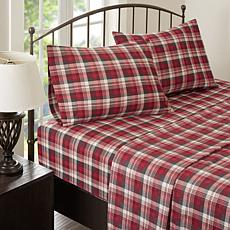 Woolrich Cotton Flannel Red Sheet Set - Queen