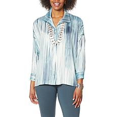 WynneLayers Blurred Stripe Relaxed Fit Shirt