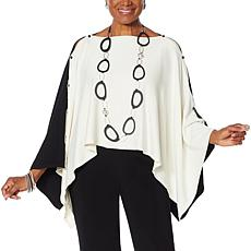 WynneLayers Colorblock Convertible Sweater Poncho