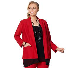 WynneLayers Essential Knit Crepe Blazer