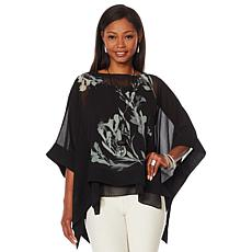 WynneLayers Floral Printed Poncho Top