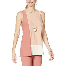 WynneLayers Luxe Crepe Colorblocked Tank
