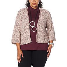 WynneLayers Marled Knit Cardigan Topper