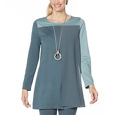 WynneLayers Mixed Media Colorblocked Tunic