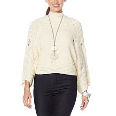 WynneLayers Open Stitch Sweater Knit Popover
