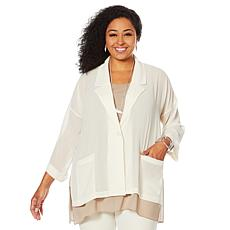 WynneLayers Oversized Chiffon Blazer