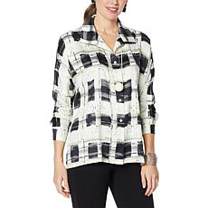 WynneLayers Painted Plaid Button-Front Shirt