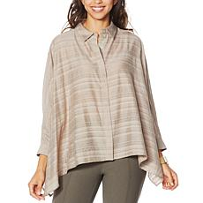 WynneLayers Sheer Gauzey Unstructured Shirt