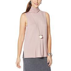 WynneLayers Sleeveless Knit Turtleneck Top
