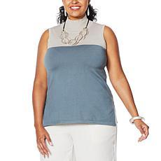 WynneLayers SoftKNIT Sleeveless Colorblock Tunic