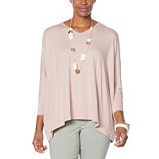 WynneLayers Unstructured 3/4-Sleeve Poncho Top