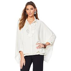WynneLayers Unstructured Crepe Blouse