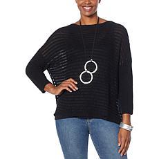 WynneLayers Unstructured Open Stitch Sweater
