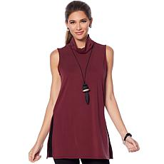 WynneLayers Washed Modal Mock Neck Tunic
