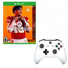 Xbox One Controller and Madden 20 Game