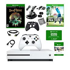 Xbox One S 1TB 4K  Console with 2 Games and Accessory Bundle