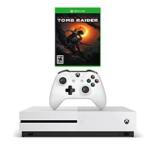 "Xbox One S 1TB 4K Starter Console with ""Shadow of the Tomb"" Game"