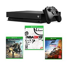 Xbox One X 1TB Console Bundle with NBA 2K19, Forza 4 and Titanfall 2