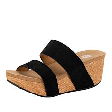 Yellow Box Bandos Leather Rocker Wedge Sandal