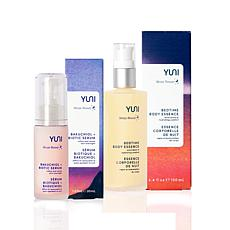 YUNI Beauty Bedtime Body Essence + Bakuchiol and Biotic Serum