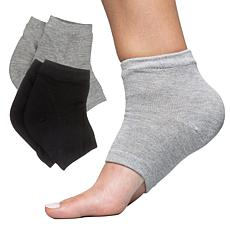 ZenToes 2-pair Cotton Moisturizing Gel Heel Toeless Socks