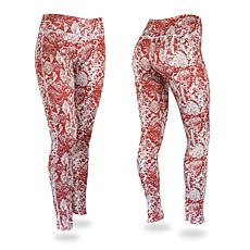 Zubaz Maroon and Gray Post Print Leggings
