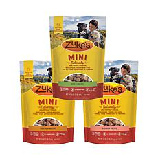 Zuke's  Mini Naturals Variety 3 pack 16oz Chicken Duck Salmon