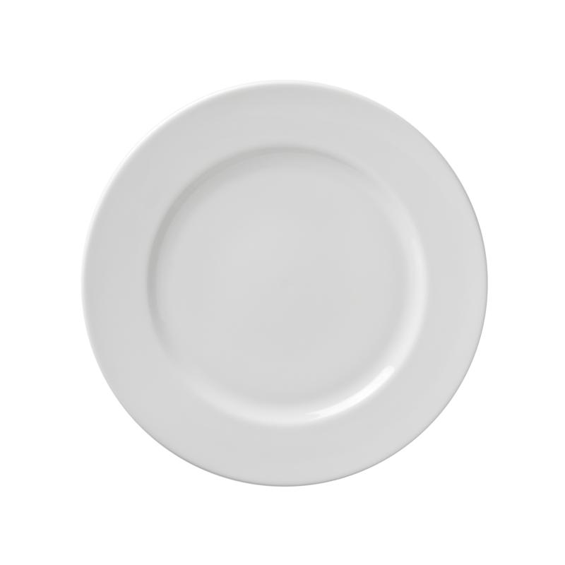 """10 Strawberry St White 9.125"""" Luncheon Plate - 6"""