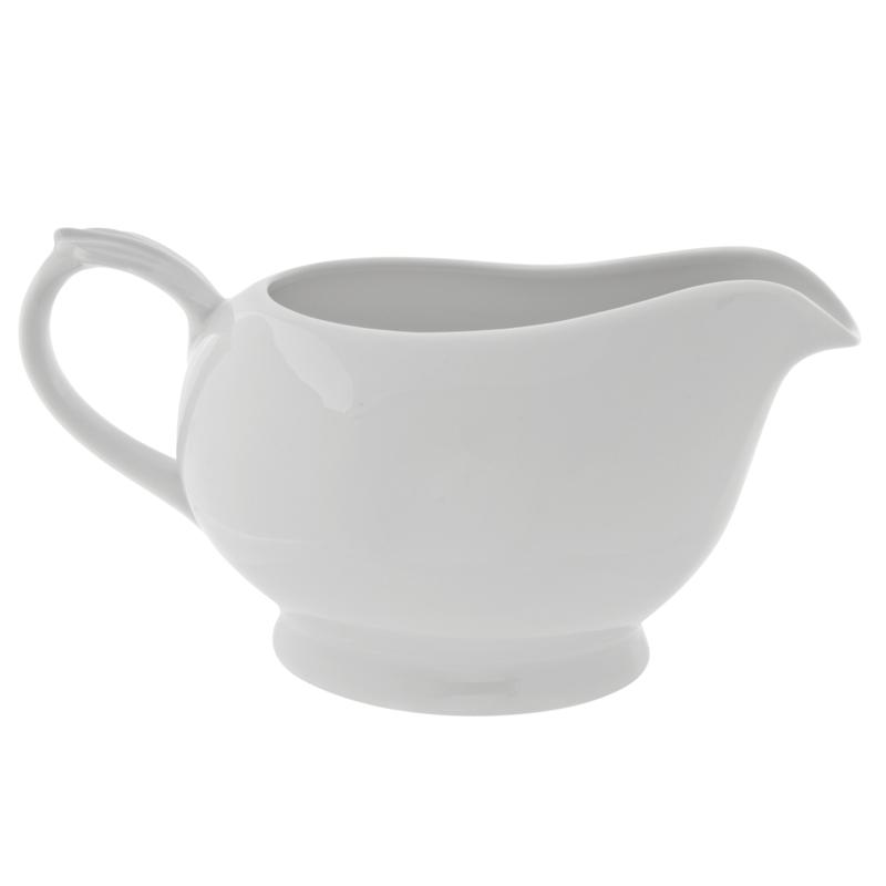 10 Strawberry Street Classic White Gravy Boats