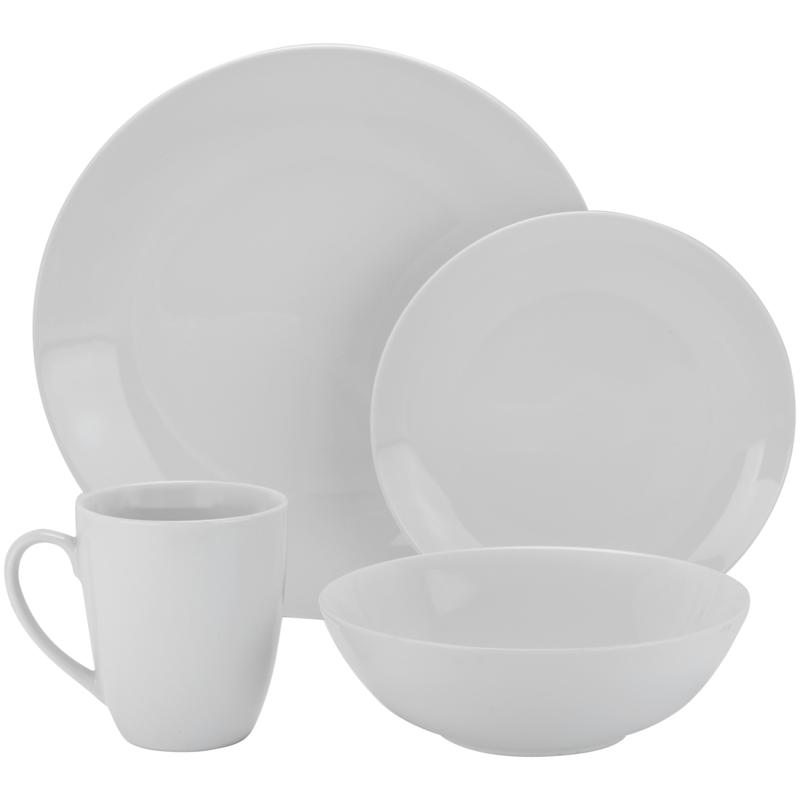 10 Strawberry Street Simply Coupe 16-piece Dinnerware Set - White