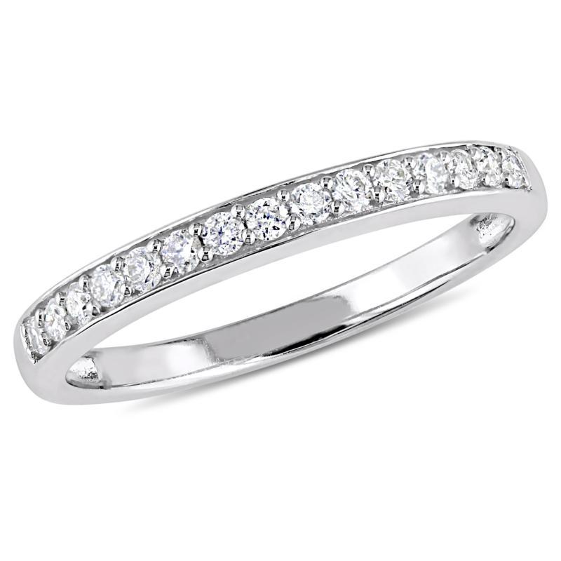 10K White Gold .015ct Diamond Wedding Band Ring