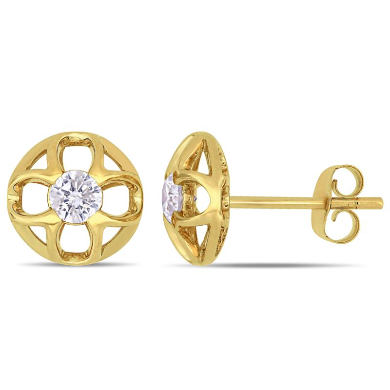 10K Yellow Gold 0.34ctw Diamond Post Stud Earrings