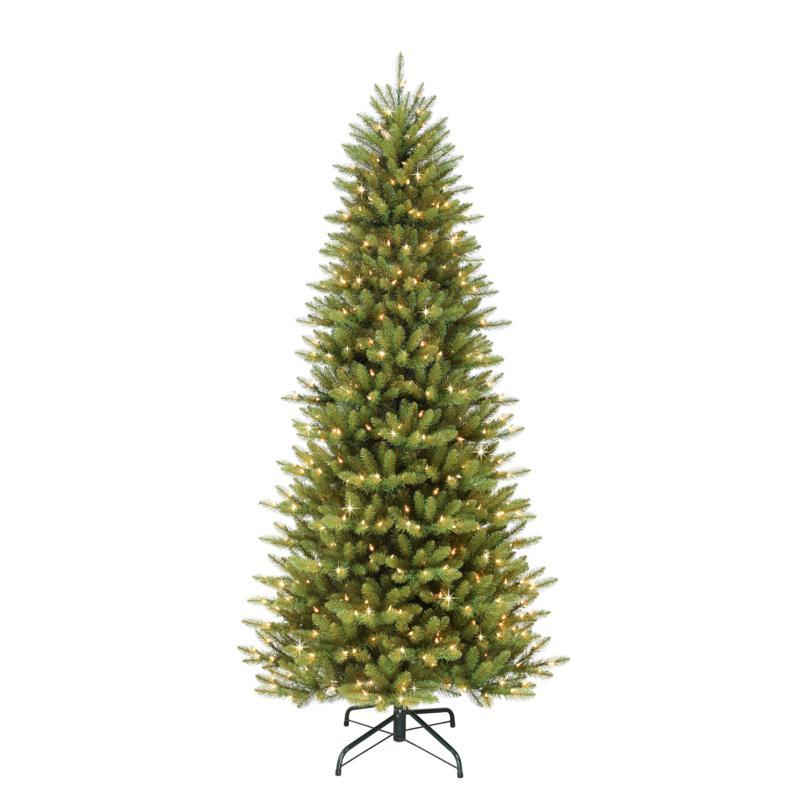 12' Slim Franklin Fir Artificial Christmas Tree - 1200 Clear Lights