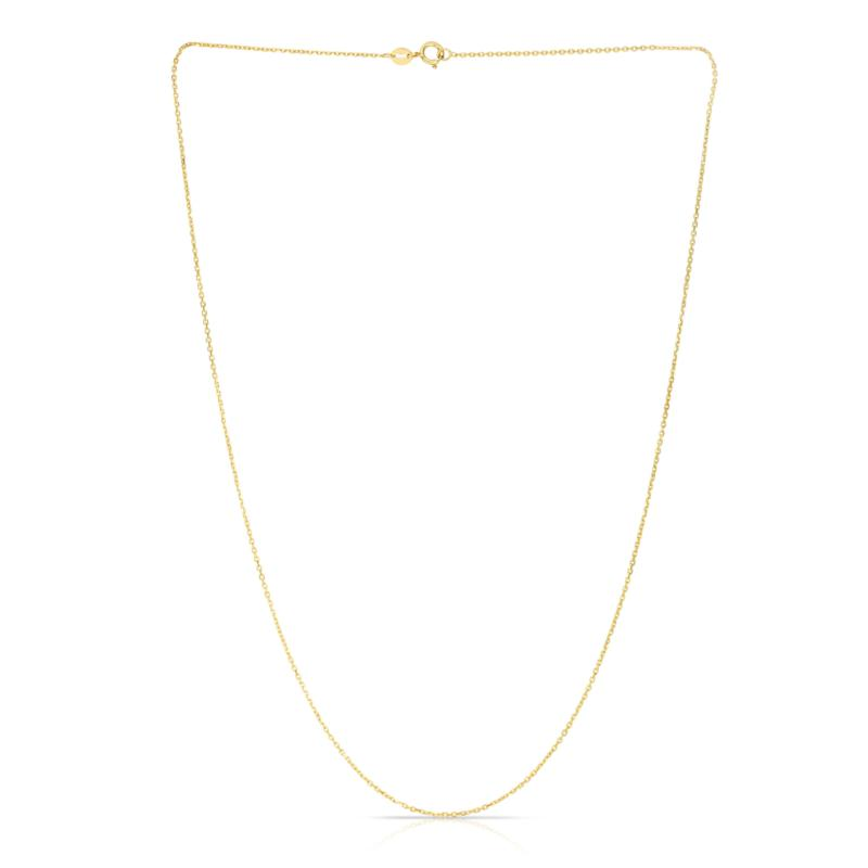 """14K Gold 18"""" 1.1mm Oval Cable Chain"""