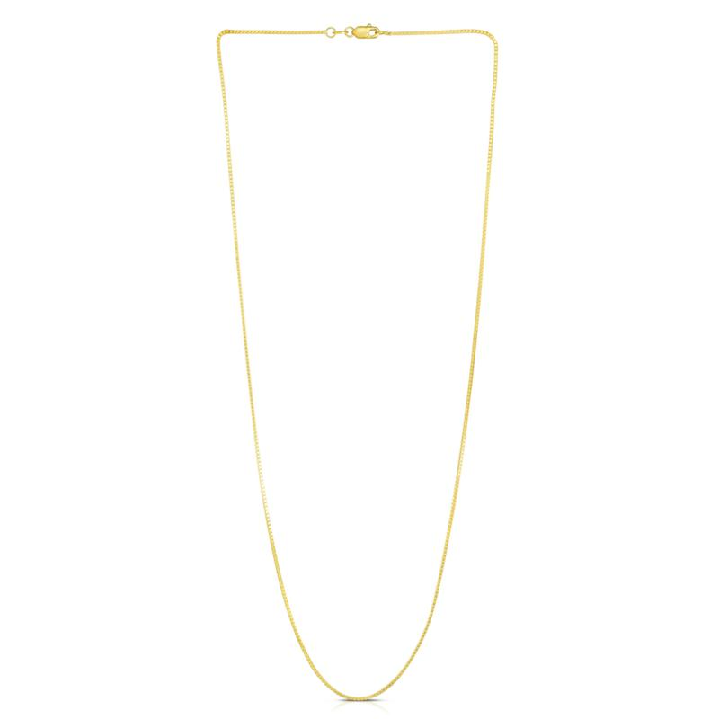 """14K Yellow Gold 0.87mm Box Chain Necklace - 20"""""""