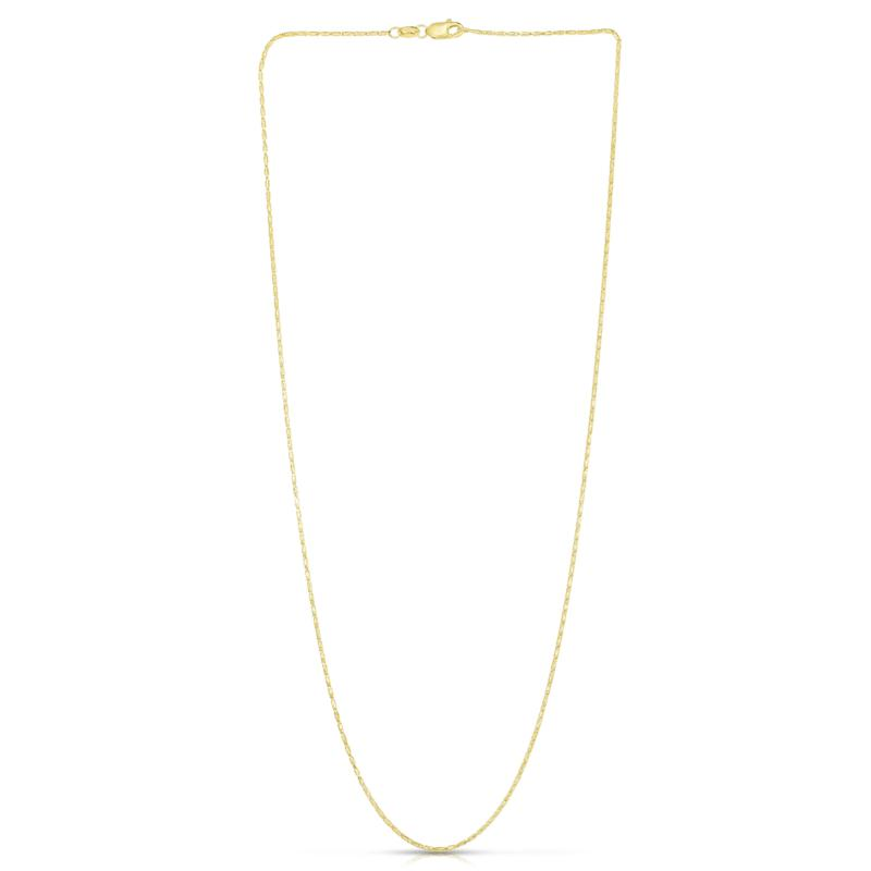 """14K Yellow Gold 0.9mm Diamond-Cut Lumina Chain Necklace - 18"""""""