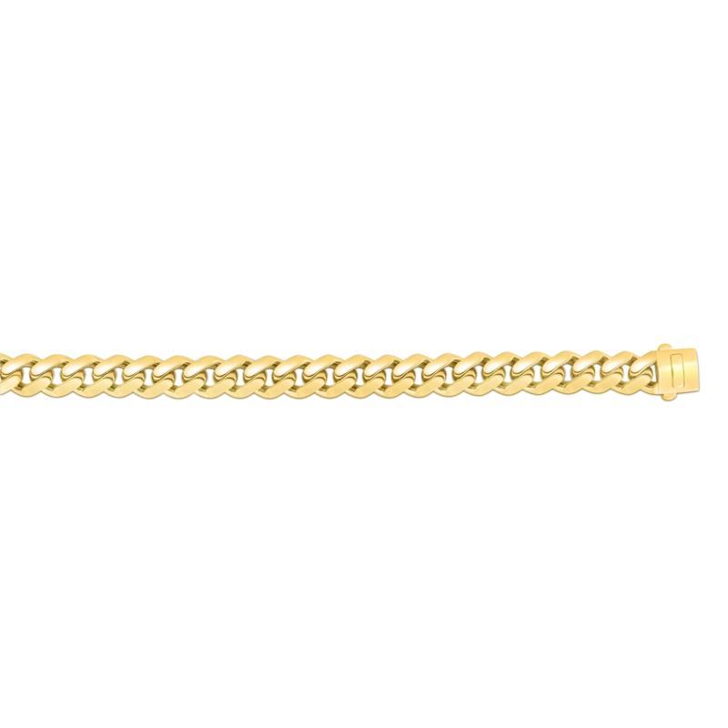 "14K Yellow Gold 13.5mm Polished Lt Miami Cuban Chain Bracelet - 8-1/2"""