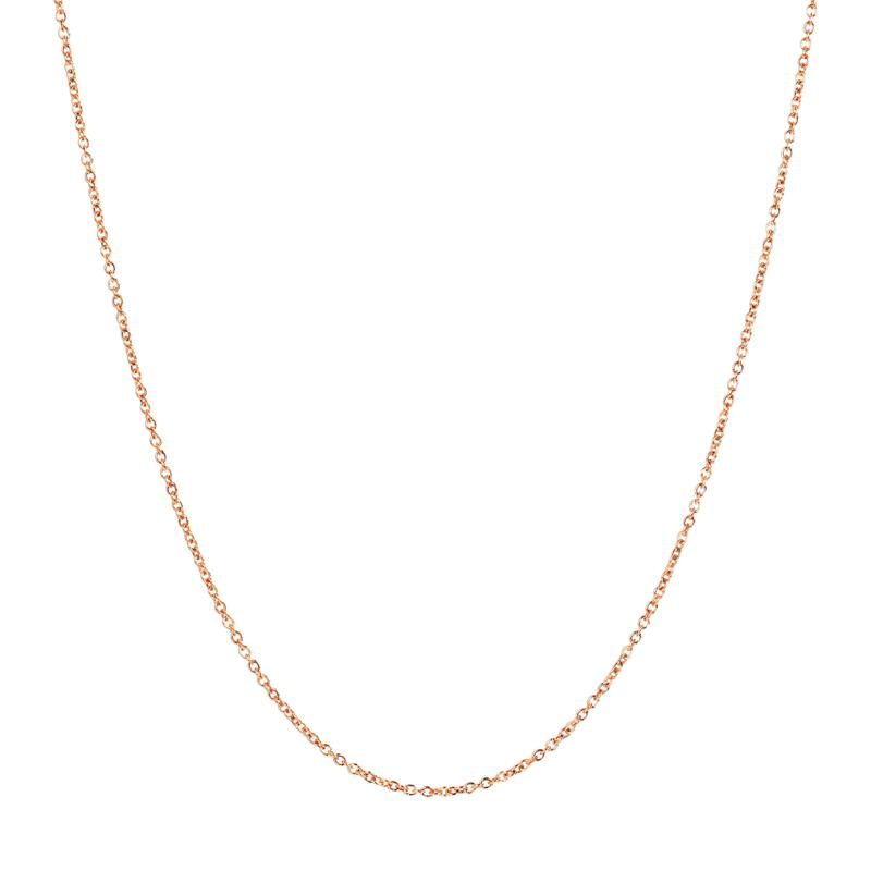 """16"""" 14K Gold Oval Rolo Chain"""